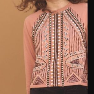 Anthropologie Akemi + Kin Embroidered Sweatshirt-M